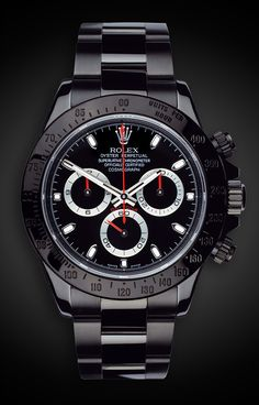 Titan Black Rolex Daytona Stealth...Mmmm, maybe this would be the ideal watch to go with our new Black Fiat 500S wife?