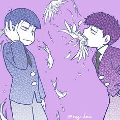 「松まとめ」/「葱麻」の漫画 [pixiv]>>> Is this inspired by ViVi? they look cool though!