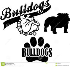 free bulldog clipart pictures clipartix 2 crafts pinterest rh pinterest com bulldog football mascot clipart High School Bulldogs Mascot