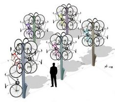 """Bike Tree"" Keeps Bikes Off Ground, Away From Sticky Fingers : TreeHugger"