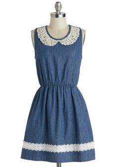 Would be so cute to wear to a summer country wedding or maybe even at thanksgiving! Farmhouse Potluck Dress, #ModCloth