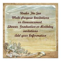Under the Sea Beach Multi purpose Invitation Shoppingplease follow the link to see fully reviews...