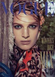 Ashleigh Good shines on the cover of Vogue Italia (Nov 13). Ph Steven Meisel