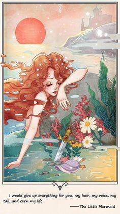 Little Mermaid Wallpaper, Little Mermaid Art, Mermaid Wallpapers, Disney Artwork, Disney Fan Art, Disney Drawings, Cute Wallpaper Backgrounds, Cute Wallpapers, Disney Renaissance