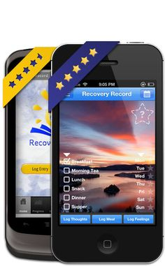 Recovery Record - a smartphone app for people with eating disorders What a cool idea! Nutrition Apps, College Food Hacks, Health And Wellness, Mental Health, I Miss My Dad, Recovery Tools, Eating Disorder Recovery, Binge Eating, Anorexia