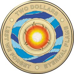 2014 Australia UNC Two Dollar $2 Coin Remembrance Green Ring