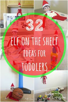 32 of the best and easiest Elf on the Shelf ideas for toddlers! Fast, simple, and fun for your little kids! ****Mensch on the Bench ideas Diy Felt Christmas Tree, Toddler Christmas, Babies First Christmas, Christmas Ideas For Toddlers, Elf On The Shelf Ideas For Toddlers, Elf On The Self, The Elf, Christmas Activities, Christmas Traditions