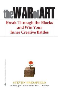 """The War of Art - by Steven Pressfield, Shawn Coyne  For any and all creatives who have had to """"stand down"""" resistance this is inspiring, practical, funny and immensely helpful for """"winning your inner creative battles""""."""
