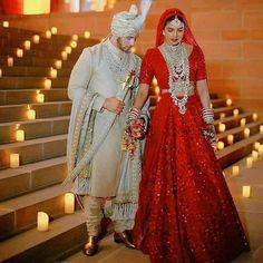 Christian Wedding Ceremony, Hindu Wedding Ceremony, Haldi Ceremony, Sabyasachi Lehenga Cost, Lehenga Choli, Priyanka Chopra Wedding, Lehenga Designs, Indian Designer Outfits, Fashion Couple