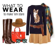 18 Way to Wear Royal Blue Cat Printed Sweater