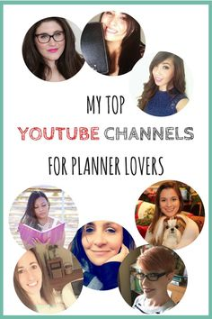 YouTube is my go to place to find inspiration. When it comes to the planner world there are many channels that focus on planners and their decoration. In this post you will find my top channels for planner lovers.