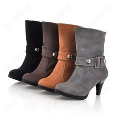 a475fe7f958bd Discount China china wholesale Fashion Womens Crude Heel Martin Boots  Casual Belted Buckle Beading Shearling Bootie  50042  - US 21.99   DealsChic