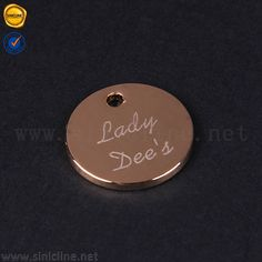 Round Gold Shiny Metal Lable for Bikini ML241_Garment hangtags|Pvc labels|Woven Labels|Fabric Labels-Sinicline