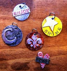 MAKE YOUR OWN FAUX METAL CHARMS....WITH FOIL TAPE, AND CARDSTOCK.