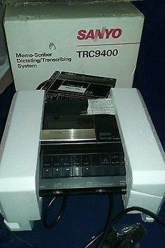 Sanyo TRC9400 memo-scriber dictating /transcribing system