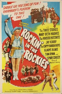 """saddle up, you sons of fun!""…movie poster from 1945…with the three stooges no less!"