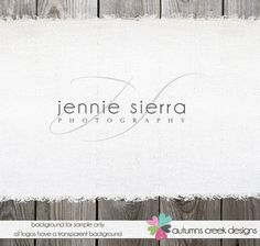 Premade Photography Logo  Script Initials Text by autumnscreek, $35.00
