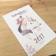 Calendario Ilustrado 2017 de LydietaShop en Etsy