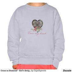 Cross in Diamond®  Girl's design Sweatshirt