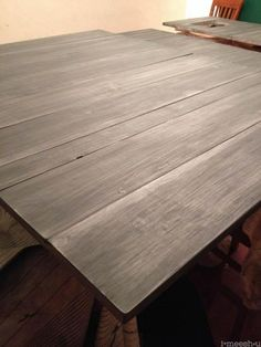 matte varnish over annie sloan chalk paint restoration hardware finish - could we do something like this ?? - found it under kitchen counters ?? :-)