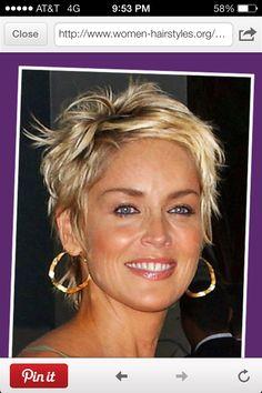 Sharon Stone's hair always looks amazing!