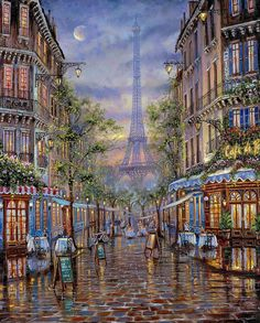 Robert Finale Paintings | Summer in Paris. Robert Finale