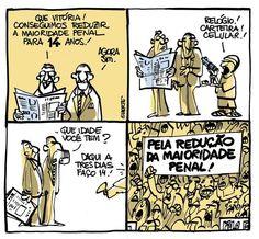 """""""A redução da maioridade penal"""" - por Laerte"""