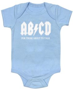 AB/CD Funny Baby One Piece Bodysuit Romper in Blue by Kiditude on Etsy https://www.etsy.com/listing/128135998/abcd-funny-baby-one-piece-bodysuit