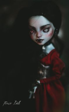 MonstrousLab on Etsy Custom Monster High Dolls, Monster High Repaint, Custom Dolls, Ooak Dolls, Art Dolls, The Day Will Come, High Art, Halloween Face Makeup, Dark Mind