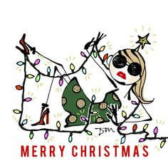 Merry Christmas! from Josie♡ #merrychristmas #christmasillustration #illustration #josiesrunway #josie #fashionicon #fashion #christmas
