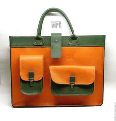 Купить Сумка-чехол кожаный для ноутбука Апельсин - однотонный, чехол, чехол для ноутбука, чехол для нетбука