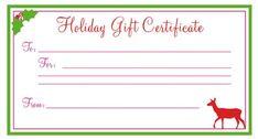 Printable Christmas Gift Certificates Templates Free Merry Santa Christmas Gift Certificate Template  Gift Certificate .