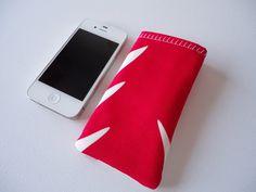 iPhone 5 en 5S telefoonhoes, fel roze en wit telefoonhoesje op Etsy, 5,00€