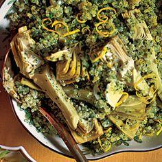 Quinoa Salad with Artichokes and Parsley | MyRecipes.com - WWPP - 2