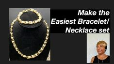 Easiest Necklace Set #27 - YouTube Diy Jewelry Videos, Handcrafted Gifts, Necklace Set, Easy, Youtube, Kid Craft Gifts, Handmade Gifts, Craft Gifts, Youtubers