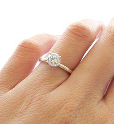 Size 4.5 5 6 7 8  1 carat 6mm Diamond by TigerGemstones on Etsy, $59.99