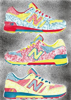 New Balance, ink on paper 50/70.