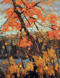 1914 Twisted Maple Canadian Painters, Canadian Artists, Landscape Art, Landscape Paintings, Landscapes, Group Of Seven Paintings, Tom Thomson Paintings, Art Ancien, Painting Gallery