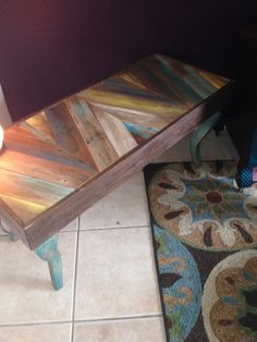 Chevron pallet table/bench