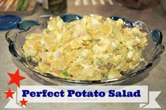 perfect potato salad - it's my mother-in-law's recipe. Great for BBQ side dish!