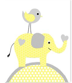 Yellow and Gray Nursery Elephant Nursery Print Girl nursery Jungle Nursery Girl's Room Art 8 x 10 or 11 x 14 Print Cute Nursery Art Jungle Nursery, Baby Girl Nursery Decor, Baby Room Decor, Baby Girl Elephant, Elephant Nursery, Nursery Prints, Nursery Art, Scrapbooking Image, Elephant Canvas Art