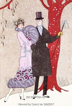 L' Hiver, by Georges Barbier. Paris, France, early 20th century