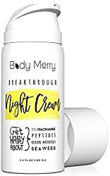 Breakthrough Night Cream Anti Aging Night Cream Moisturizer w 5 Niacinamide Best Natural Organic Ingredients Hyaluronic Acid Ocean Minerals Seaweed to Fight Wrinkles Lines Acne Spots *** Awesome product. Click the image Best Anti Wrinkle Products Dry Sensitive Skin, Oily Skin Care, Moisturizer For Dry Skin, Best Night Cream, Anti Aging Night Cream, Irish Moss, Benefit, Korean Skincare Routine, Acne Spots