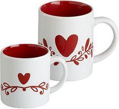 Valentine Mugs I Crateandbarrel.com