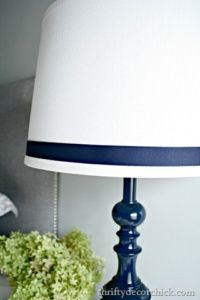 I love this simple update to a dated table lamp! I can't wait to do the same in our master bedroom! - The Handyman's Daughter