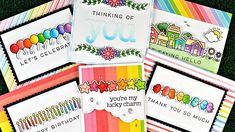 Intro to Simply Celebrate and Simply Sentiments + 6 cards from start to finish - YouTube