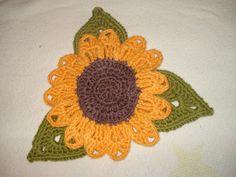 TAIKSI: Virkattu auringonkukka