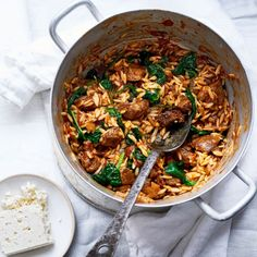 Youvetsi (Greek lamb stew with orzo)