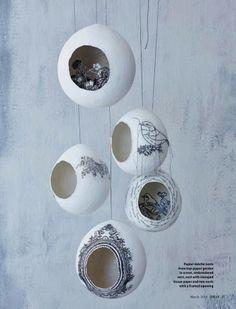 DIY Papier Mache Nests