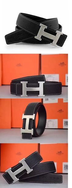 82673b84915 Belts 2993  Reversible Leather Mens Black Hermes Belt Silver Buckle Christmas  Gift Dad 34 -  BUY IT NOW ONLY   36.55 on eBay!